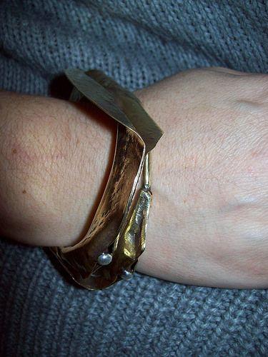 F.F. brass/silver bracelet