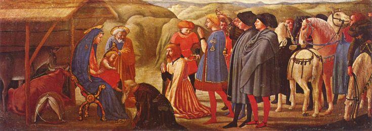 Adorazione dei Magi di Masaccio, tempera su tavola dal Polittico di Pisa 1426, oggi conservato nei Musei Statali di Berlino