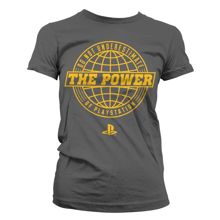 Hybris PlayStation - The Power Of PlayStation dames T-shirt donkergrij