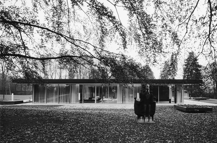 Chancellor's Residence In Bonn by Sep Ruf, 1964. Franz Joseph Ruf (1908-1982) was a German architect who spearheaded post-war German architecture, a model for modern architecture in Germany.