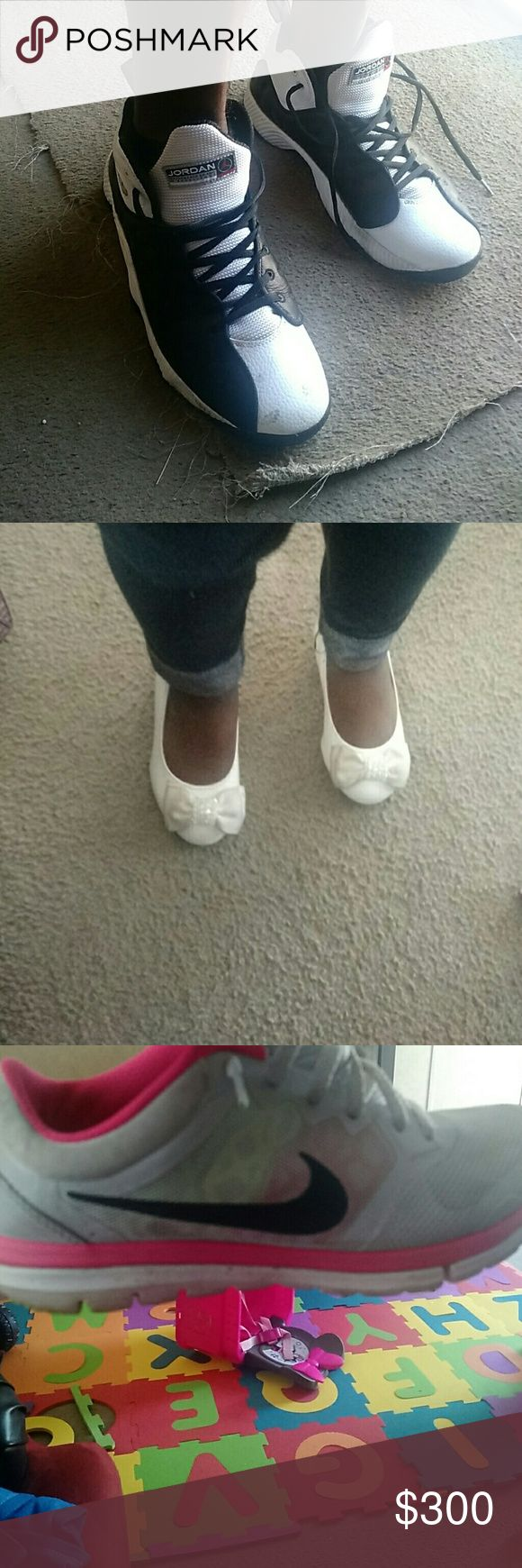 Daddy, baby, mom Jordan size 12 High heel size 7 kids Nike size 6.5 Uggs size 6 Shoes Sneakers