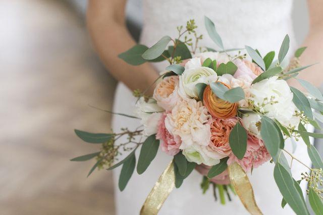 Bruidsboeket met bladeren