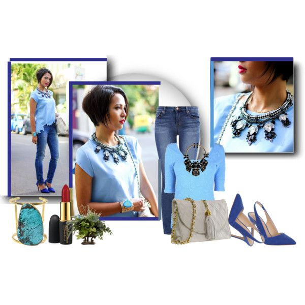 """""""Shades of Blue"""" by cutecurations on Polyvore"""