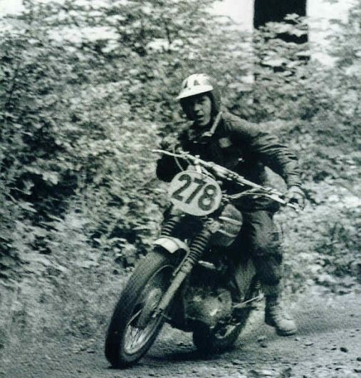 Mc Queen racing at Six Days 1964, Erfurt, Germany