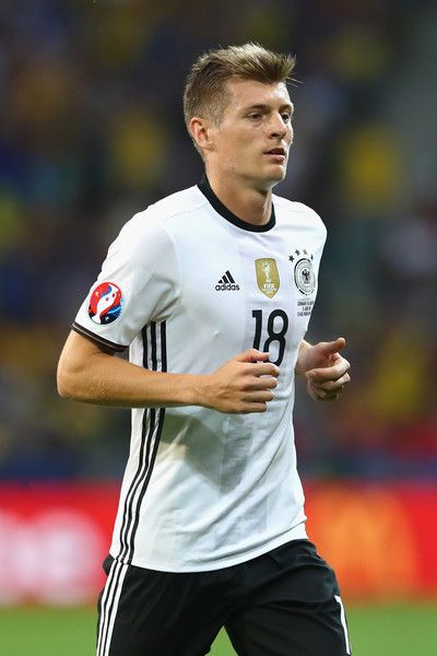 Toni Kroos of Germany runs during the UEFA EURO 2016 Group C match between Germany and Ukraine at Stade Pierre-Mauroy on June 12, 2016 in Lille, France.
