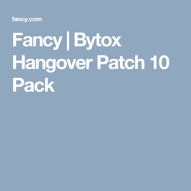 Fancy | Bytox Hangover Patch 10 Pack
