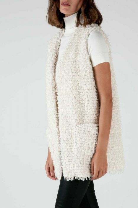 Short-fringe vest