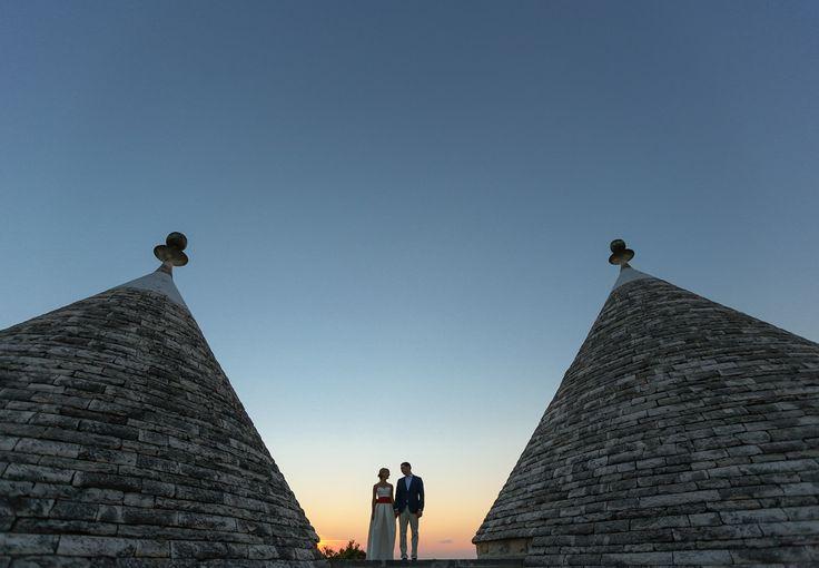 Sunset in Apulia during wedding photosession / Закат в Апулии во время свадебной фотосессии