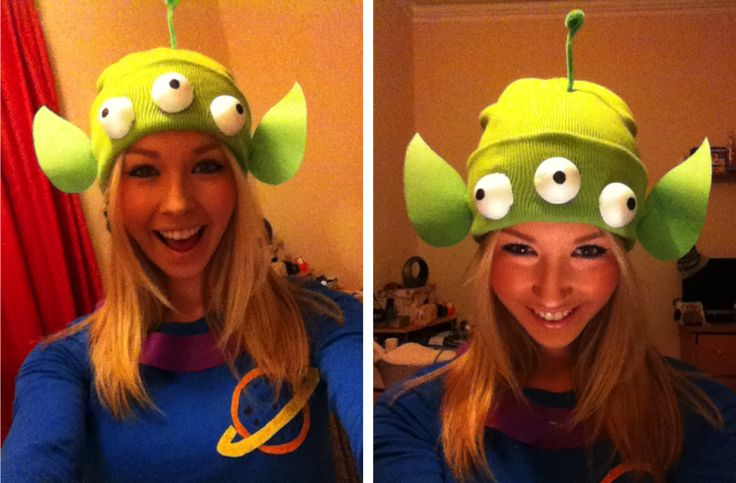 Disney pixar fancy dress costumes toy story little green aliens the claw DIY homemade outfits