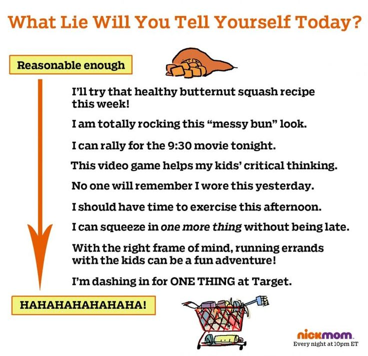 What lie will you tell yourself today?