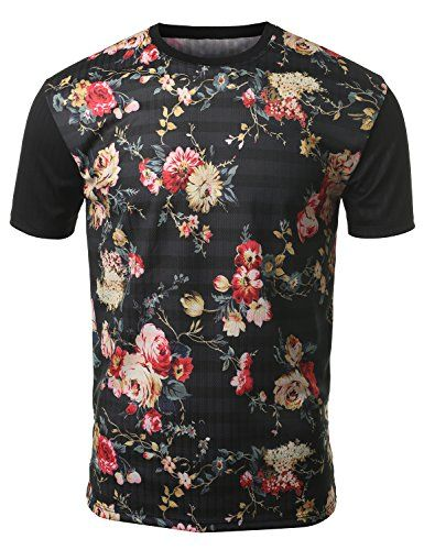 awesome URBANCREWS Mens Hipster Hip Hop Sublimated Graphic Print T-shirt- Various Prints