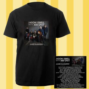 Jason Isbell and the 400 Unit winter tour dates jan-feb 2018 black tees; Material 100% cotton, Basic style; Short sleeve;