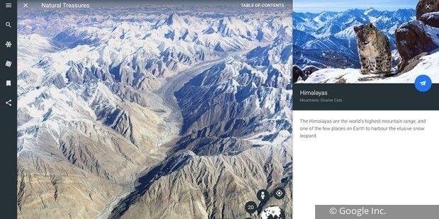 Google Earth 9.0 wartet unter anderem mit interaktiven Touren, einem Zufallsgenerator und einem 3D-Button auf.