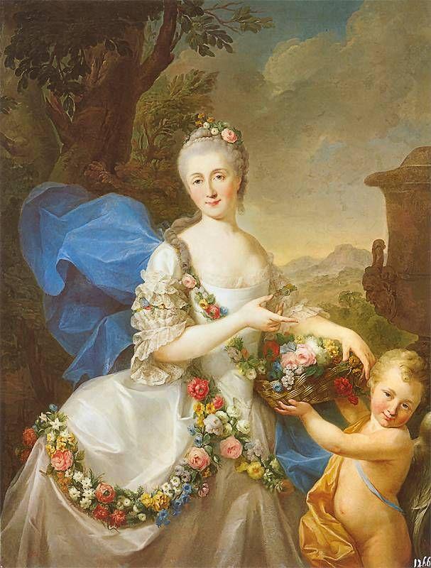 Portrait of Apolonia Ustrzycka (1736-1814), a Polish noblewoman, married second with prince Kazimierz Poniatowski, and is the mother of prince Stanisław Poniatowski   Marcello Bacciarelli (1757)