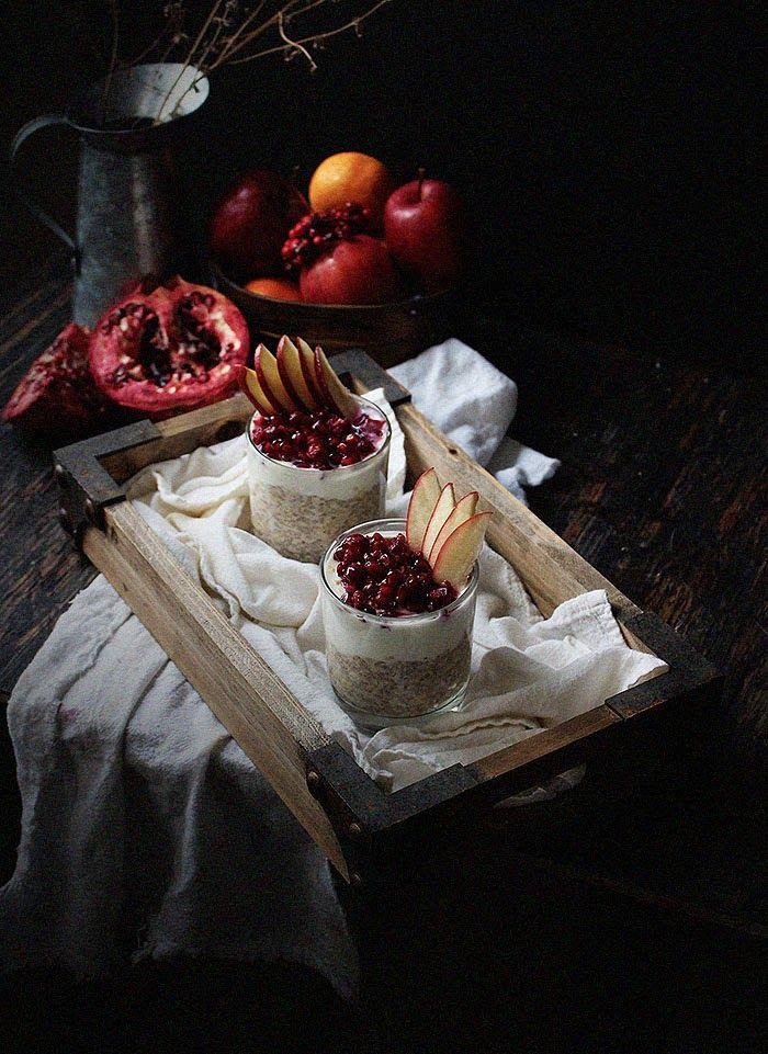 Oatgasm: Pomegranate Chia Seed Parfaits