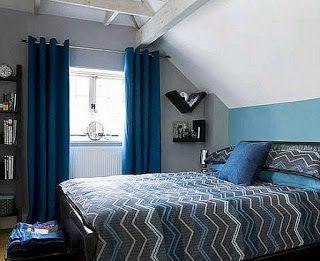 Modrá černá ložnice vzory — Vnitřní a vnější dveře design | HomeOfficeDekorace