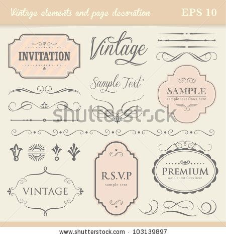 Vintage elements and page decoration by Albert Kam, via Shutterstock
