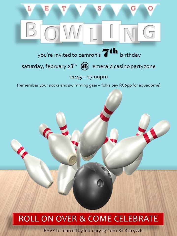 8 best Samu0027s Bowling Party images on Pinterest Birthday party - bowling flyer template free