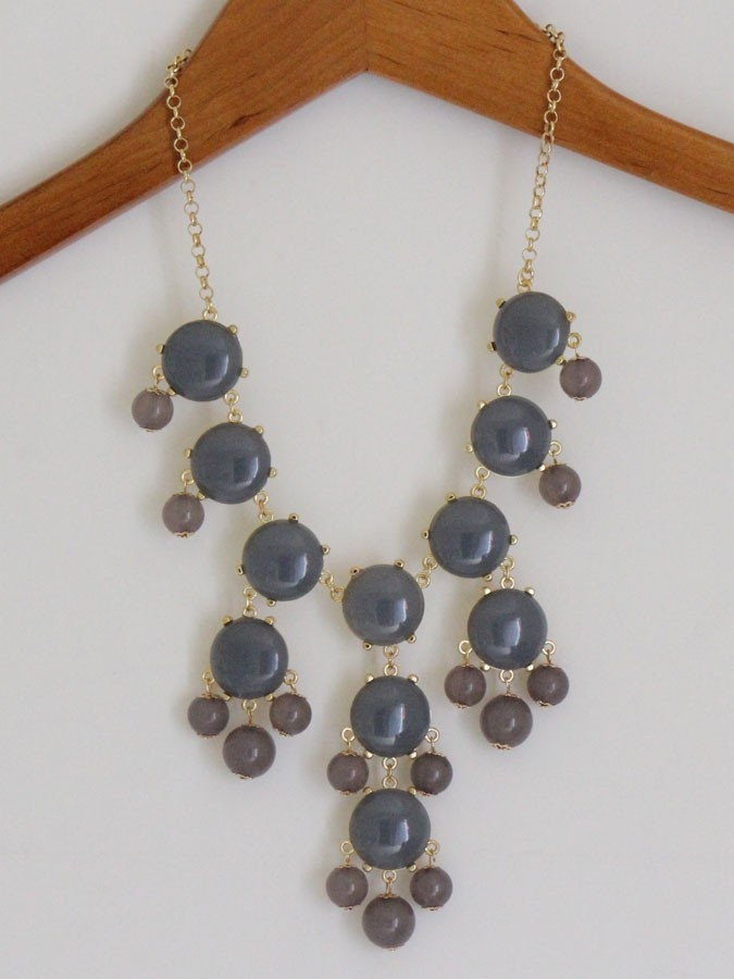 Bubble Necklace - Grey $16. I got this for $6.50 on Amazon!