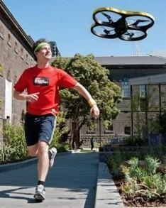 Joggobot will hover a few feet in front of the jogger to provide encouragement. Currently under development by a team at the Royal Melbourne Institute of Technology in Australia, you are able to programme the helicopter via a smartphone app in order to control the kind of pace and height it will remain at.