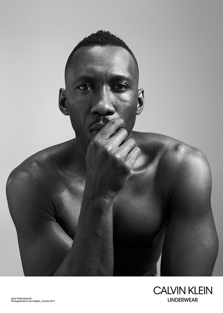 "My other chocolate drop I can only look at because he married and thangs. I ain't no homewrecka. || ""Moonlight"" actors Mahershala Ali, Alex Hibbert, Ashton Sanders and Trevante Rhodes front the Spring/Summer 2017 Underwear campaign of Calvin Klein, shot by Willy Vanderperre and styled by Olivier Rizzo."