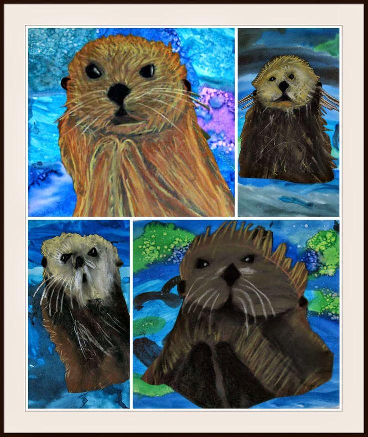 Zeeotters: Goed advies, ook voor andere dieren die je wilt tekenen of schilderen: MaryMaking: Sea Otters Revisited
