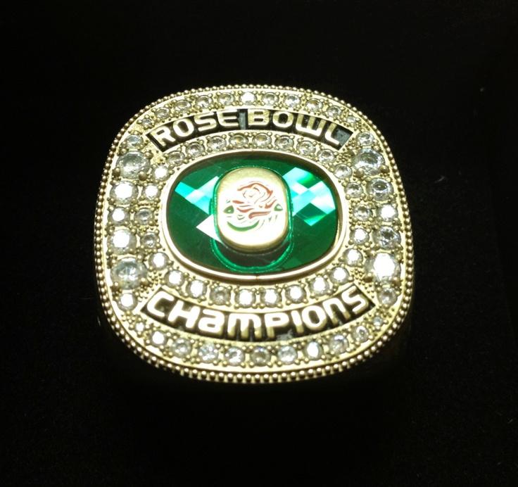 Oregon's 2012 Rose Bowl Game championship ring.