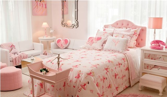 Cuartos juveniles en color rosa