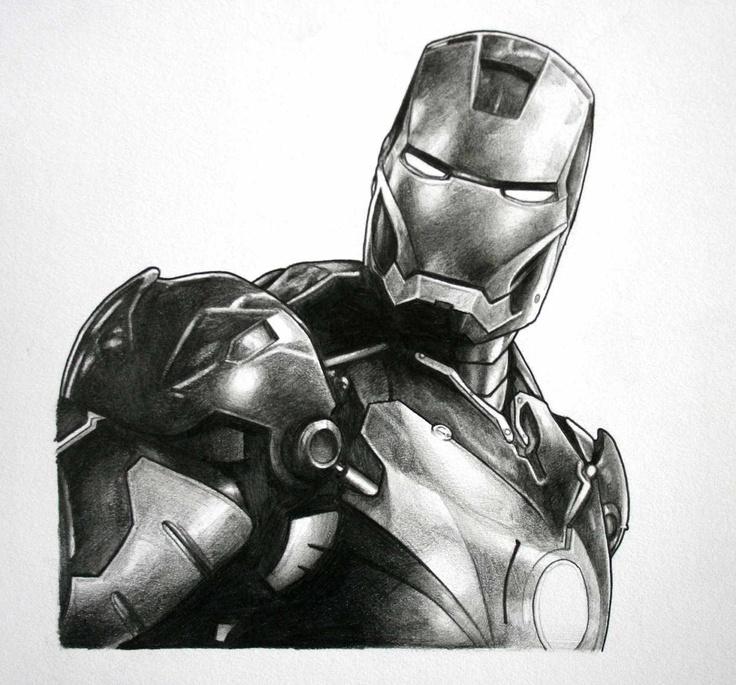 Iron Man; Pencil Sketch by Aaron King. | Ironic | Pinterest