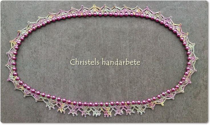 Virkat halsband, Crochet necklace