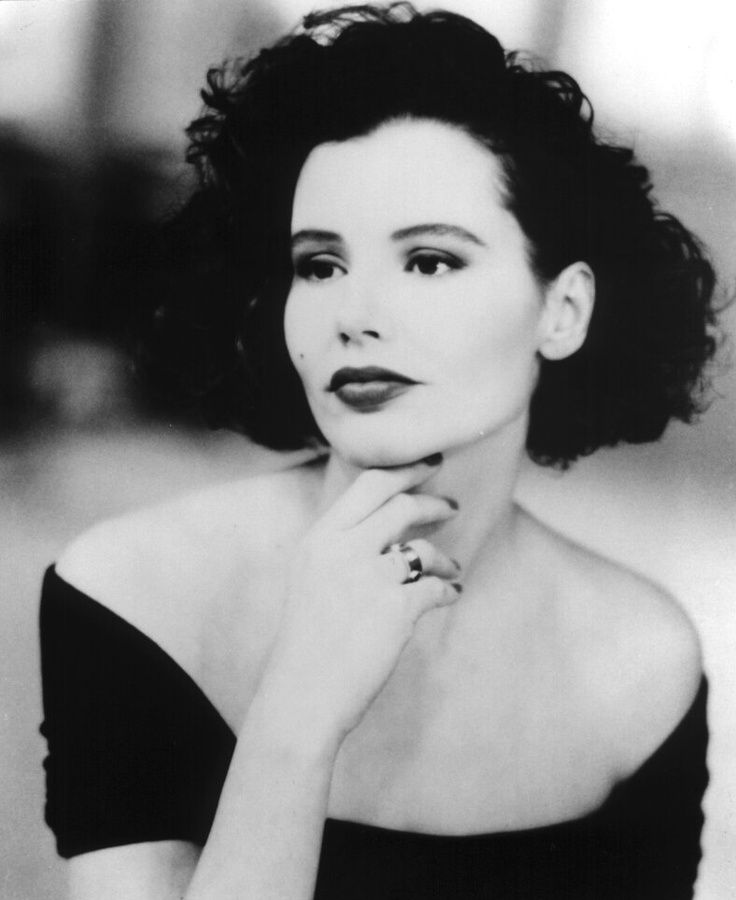 Geena Davis - (1956- ) born Virginia Elizabeth Davis. Former model, film actress, film producer, writer, and an Olympics archery team semi-finalist. Golden Globe winner.