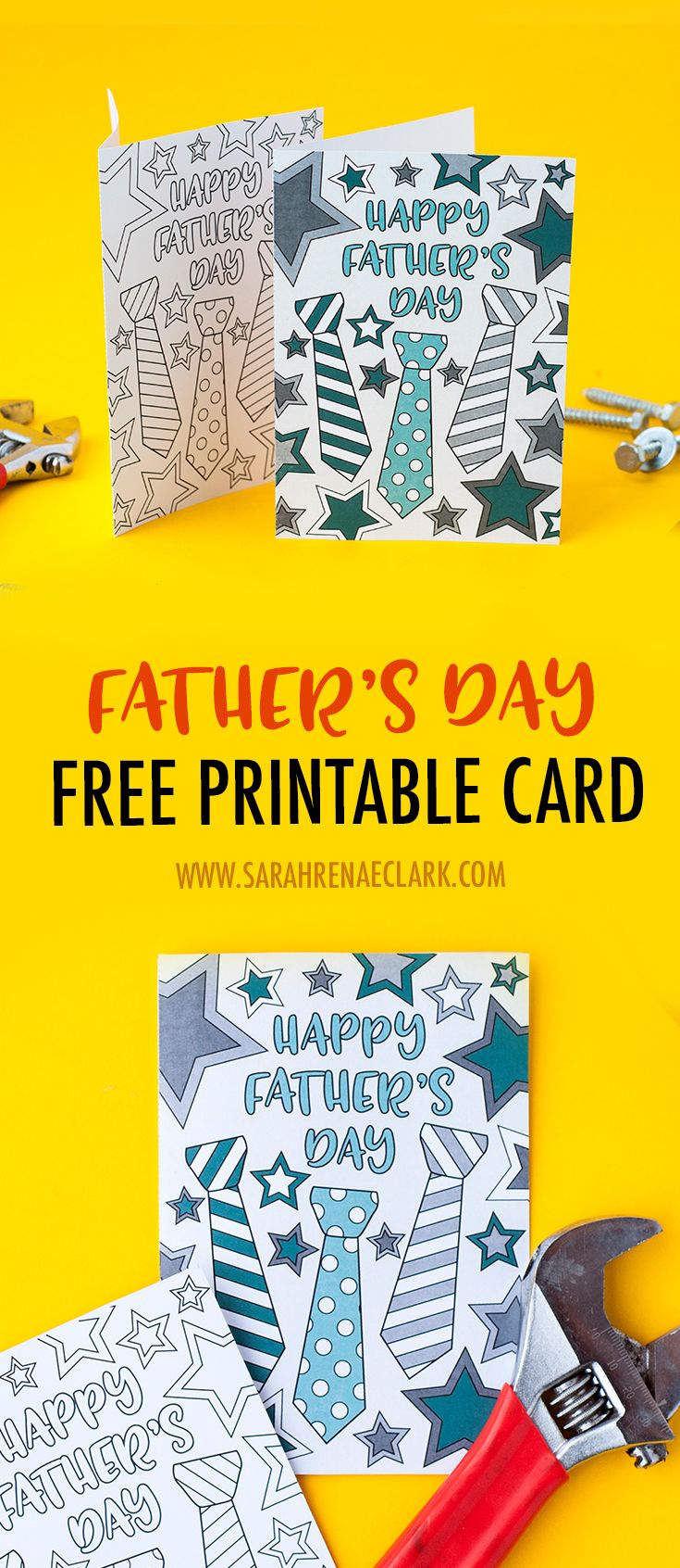 This free printable Father's Day card is fun to color in and a great way to pe...