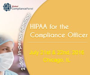 I will be going into great detail regarding you practice or business and how it relates to the HIPAA Security/Privacy Rule,  Areas covered will be history of HIPAA, privacy vs security, business associates, changes for 2016, audit process, paper based PHI, HIPAA and suing, texting, email, encryption, medical messaging, voice data and much, much, more http://www.globalcompliancepanel.com/control/globalseminars/~product_id=900500SEMINAR