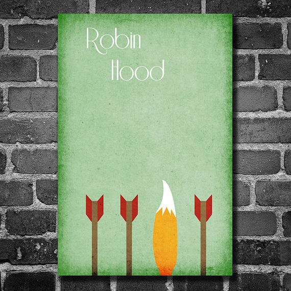Robin Hood filmposter Disney minimalistische poster geekery kunst kwekerij afdrukken