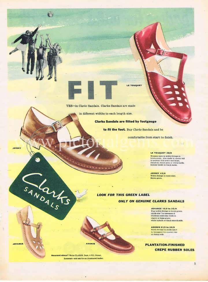 1950 Clarks Vintage Ad