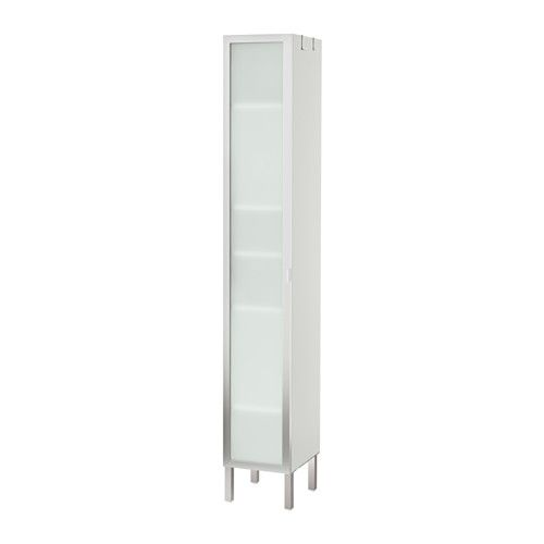 IKEA - LILLÅNGEN, Hoge kast 1 deur, aluminium, , De kast is ondiep en daardoor perfect voor gebruik in kleine ruimtes.