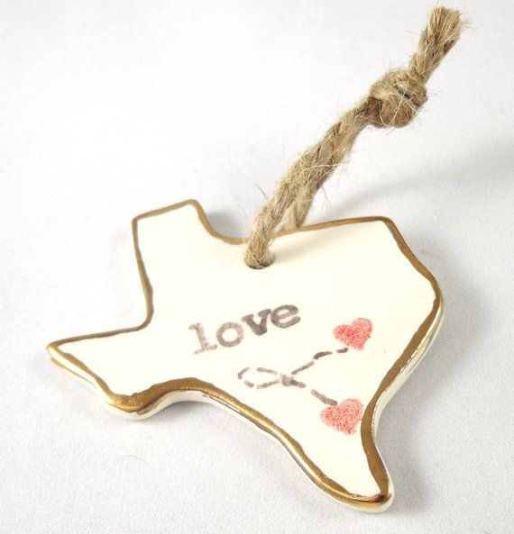 personalized texas ornament christmas gift- long distance relationship gift for girlfriend gift for