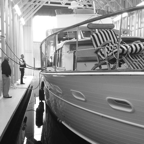 classic flush deck motor yacht...