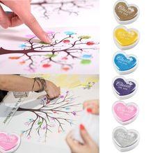 6 Цветов Чернил pad для отпечатков пальцев Свадебные Украшения DIY Scrapbooking Марки(China (Mainland))