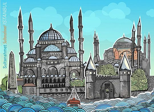 Urban Illustrations – the Cities Seeing by the Creative Eyes: POP UP BOOK for Istanbul by Burcu Gunister