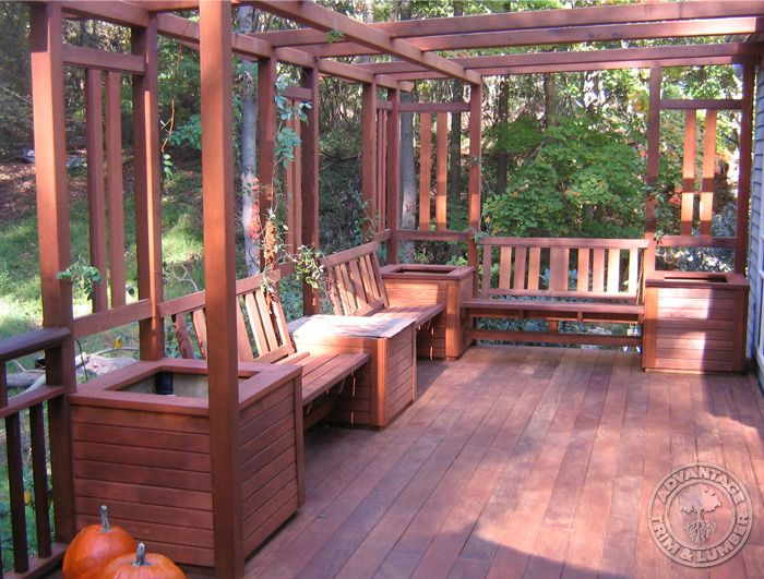 Pictures Of Sundecks Stairs And Benches: Decks With Built In Benches - Google Search