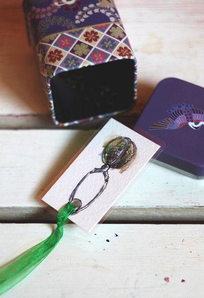 Paper & Card – Tea Lover - Handmade bookmark – a unique product by virydi_art on DaWanda