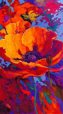 """Awakening"" by Simon Bull #beautiful use of colors in this #painting of a flower."