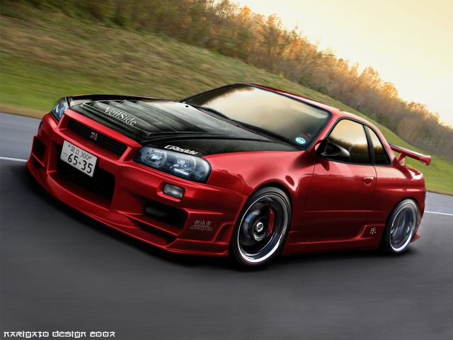 Skyline GTR...if this was white with bronze rims I would be in heaven