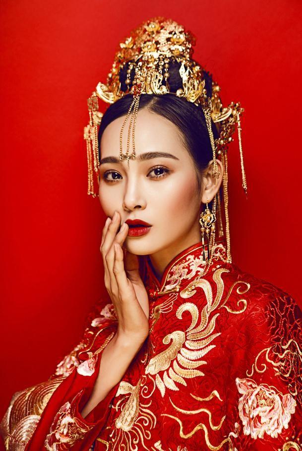 中国风新娘摄影_摄影欣赏_图片作品欣赏_三联