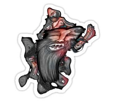 Warped Beast Sticker by StickerNuts