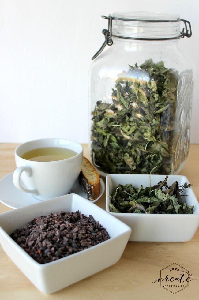 Homemade Peppermint Tea [with FREE printable] - Love Create Celebrate