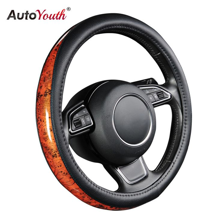 Get Best Price AUTOYOUTH Car Steering Wheel Cover Small Black Lychee Pattern Crescent Wood Grain Universal 38cm /15 inch Car Styling for Toyota #AUTOYOUTH #Steering #Wheel #Cover #Small #Black #Lychee #Pattern #Crescent #Wood #Grain #Universal #38cm #inch #Styling #Toyota