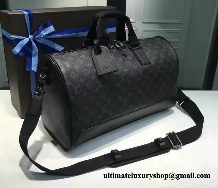 957fcec3f Authentic Quality Perfect 1:1 Mirror Replica Louis Vuitton Keepall Voyager  45 Monogram Eclipse Canvas
