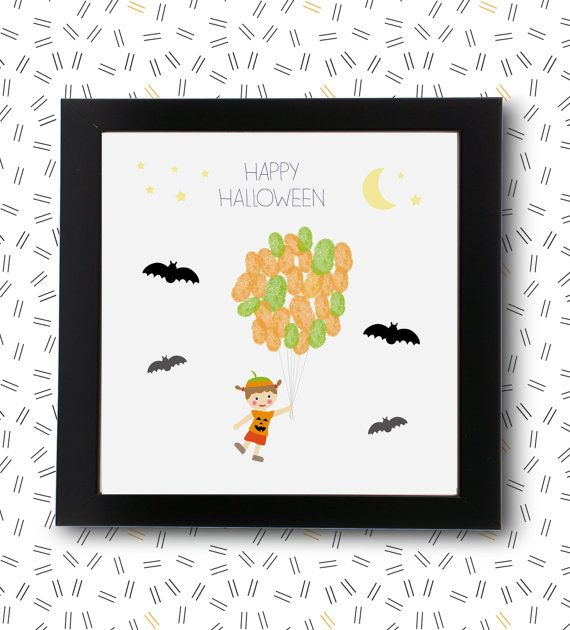 My first halloween guest book baby keepsake by RockNPrint on Etsy